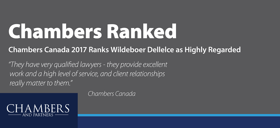 Chambers Canada Ranks Wildeboer Dellelce
