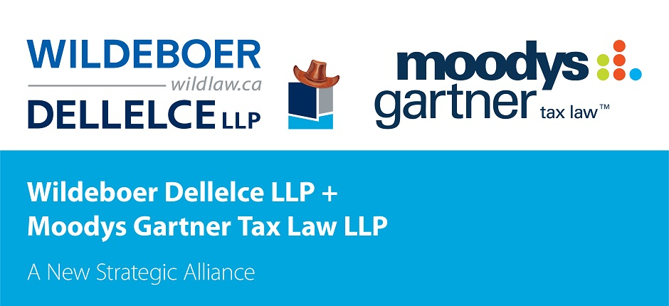 Wildeboer Dellelce and Moodys Gartner Tax Law Form Strategic Alliance